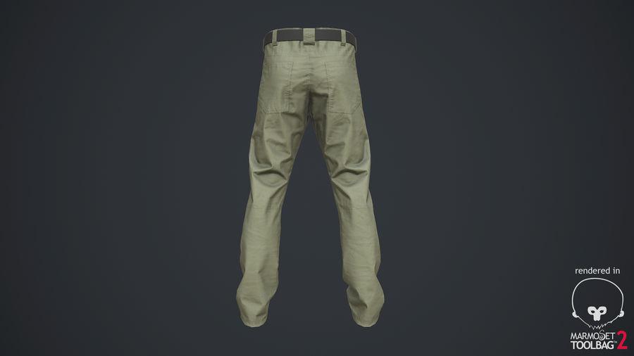 Cargo Pants (Khaki) V-ray + PBR royalty-free 3d model - Preview no. 21