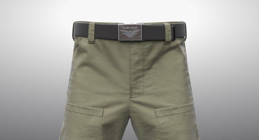Cargo Pants (Khaki) V-ray + PBR royalty-free 3d model - Preview no. 3