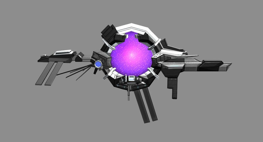 Space Stargate royalty-free 3d model - Preview no. 2
