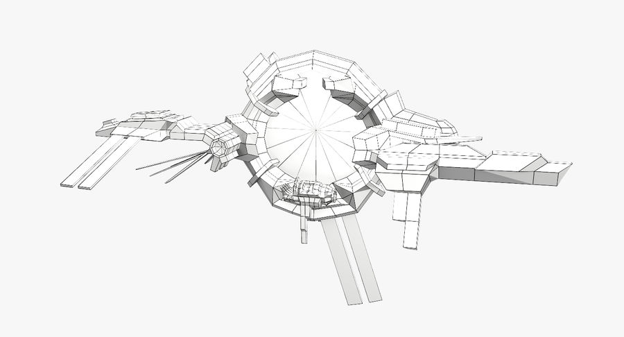 Space Stargate royalty-free 3d model - Preview no. 9