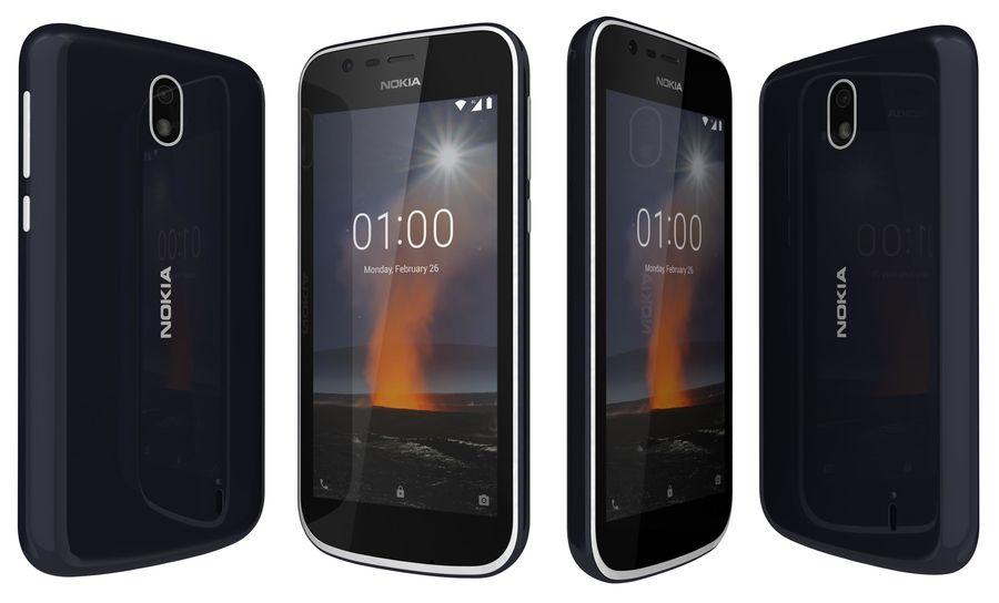 Nokia 1 Dark Blue royalty-free 3d model - Preview no. 1