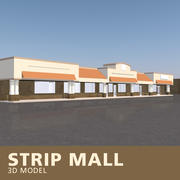 Strip Mall 3d model