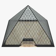 Glass Louvre Pyramid 3d model