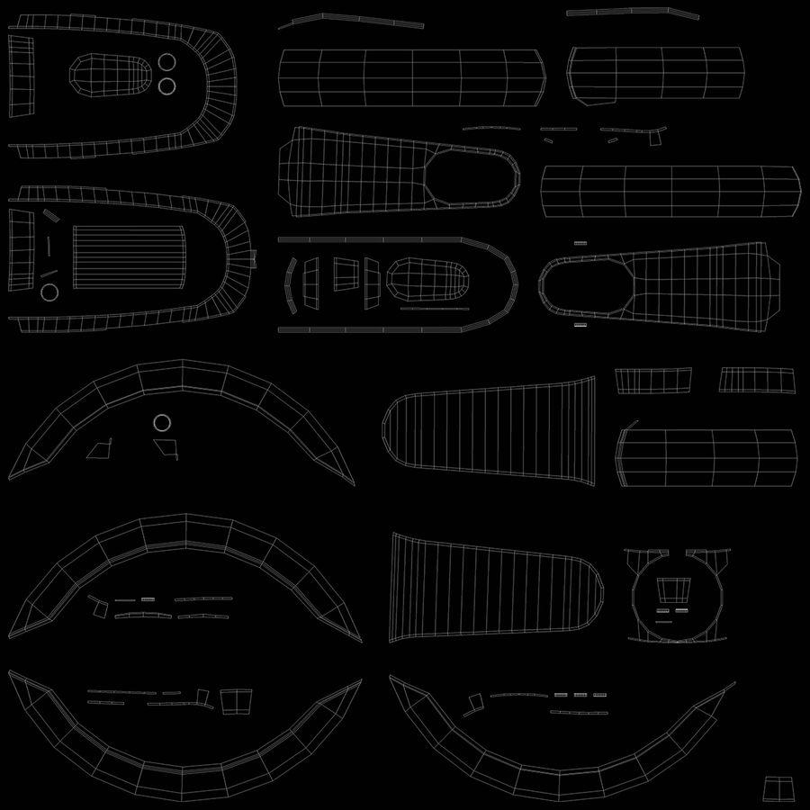 セグウェイエレクトリックキックスクーターES2 royalty-free 3d model - Preview no. 13