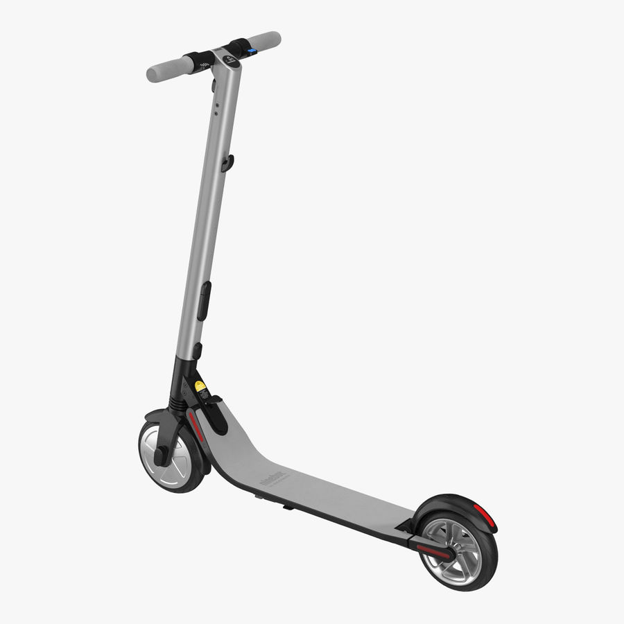 Segway Electric KickScooter ES2 royalty-free 3d model - Preview no. 1