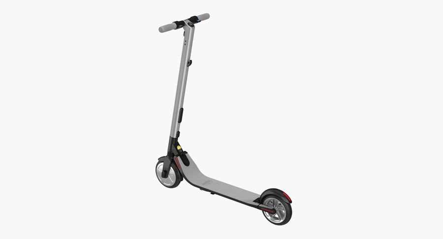 Segway Electric KickScooter ES2 royalty-free 3d model - Preview no. 2