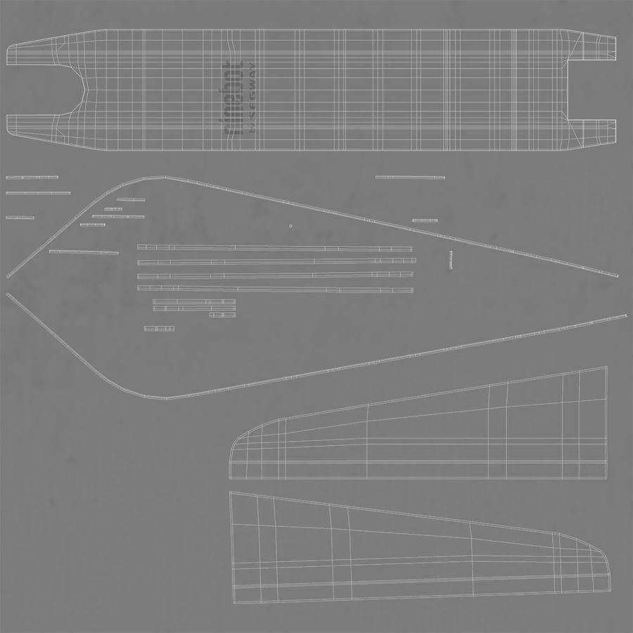 セグウェイエレクトリックキックスクーターES2 royalty-free 3d model - Preview no. 12
