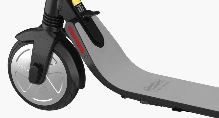 Segway Electric KickScooter ES2 royalty-free 3d model - Preview no. 8