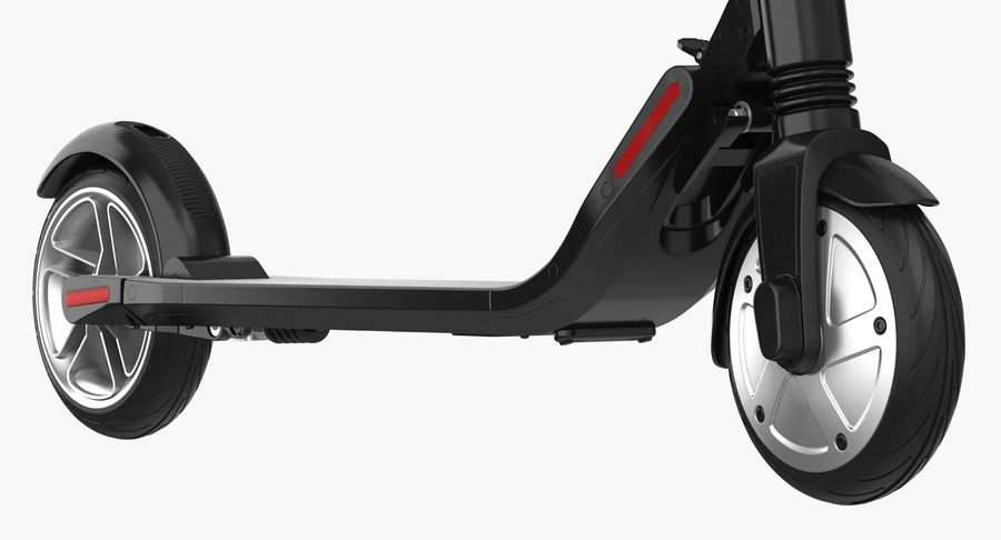 Segway Electric KickScooter ES2 royalty-free 3d model - Preview no. 6