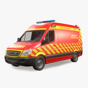Fire and Rescue Vehicle Low Poly 3d model