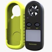 Termometr anemometryczny z przepływem powietrza P5W9 + Zderzak 3d model