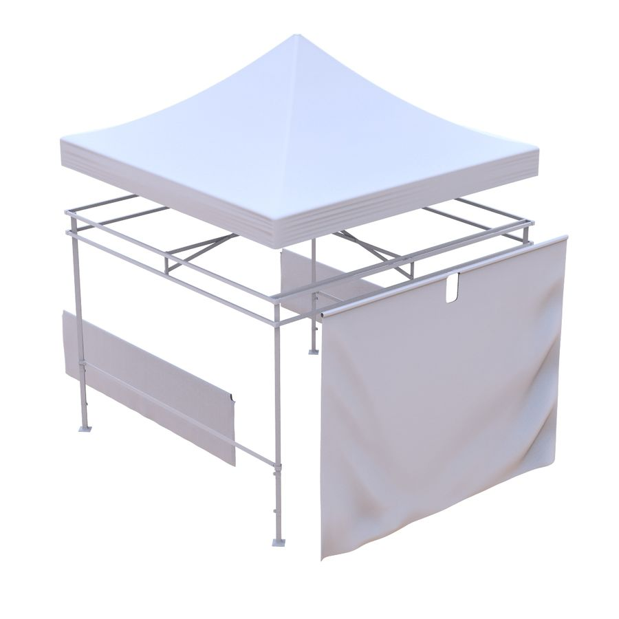 Коммерческое Событие Capony Tent royalty-free 3d model - Preview no. 9