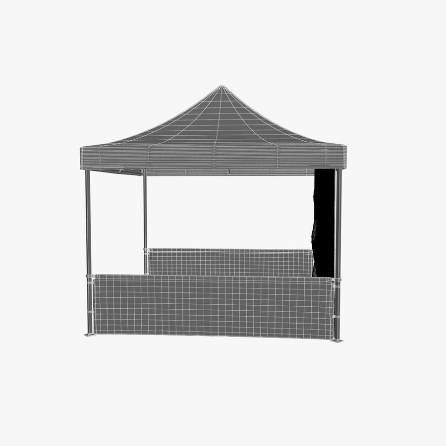 Коммерческое Событие Capony Tent royalty-free 3d model - Preview no. 11
