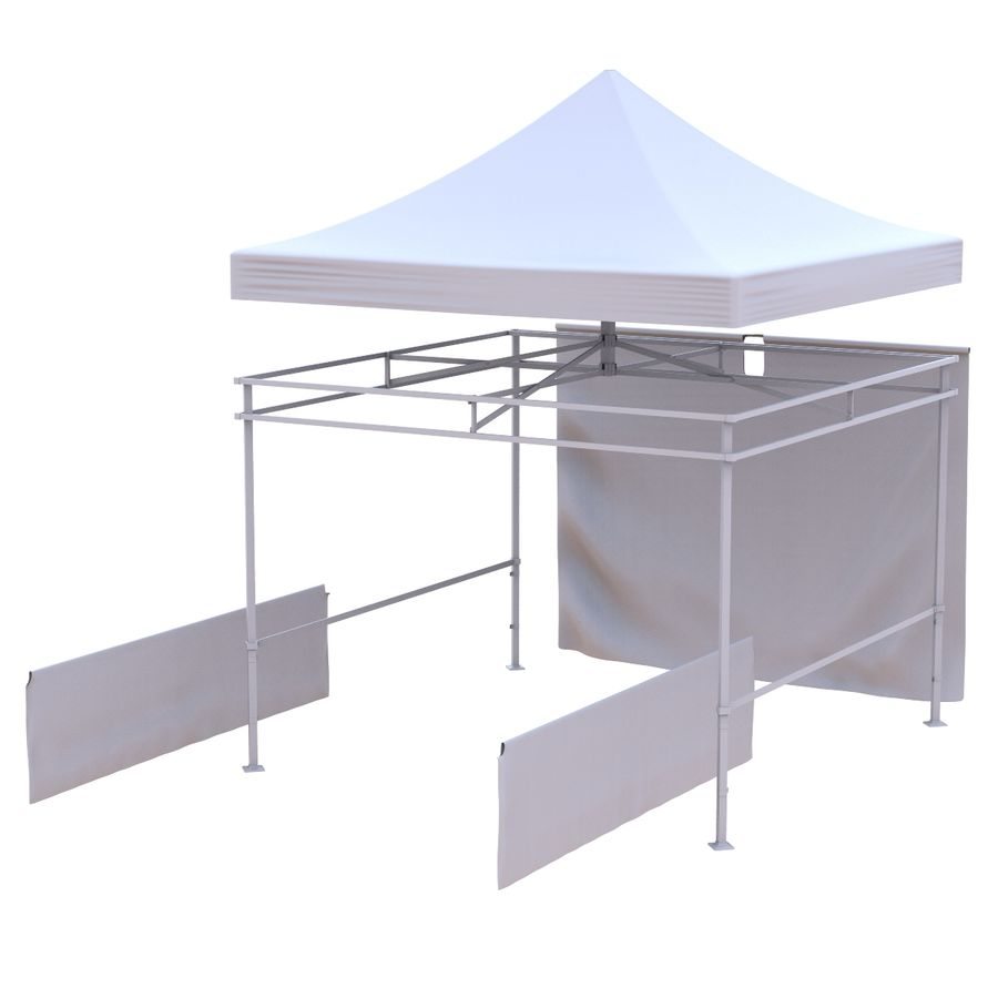 Коммерческое Событие Capony Tent royalty-free 3d model - Preview no. 8