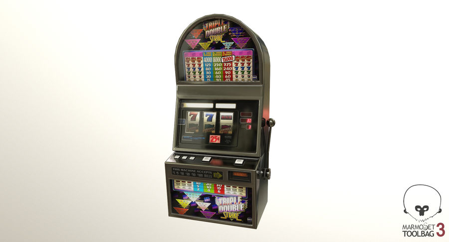 Slot Machine 01 royalty-free 3d model - Preview no. 11