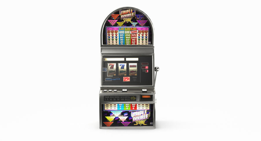 Slot Machine 01 royalty-free 3d model - Preview no. 4
