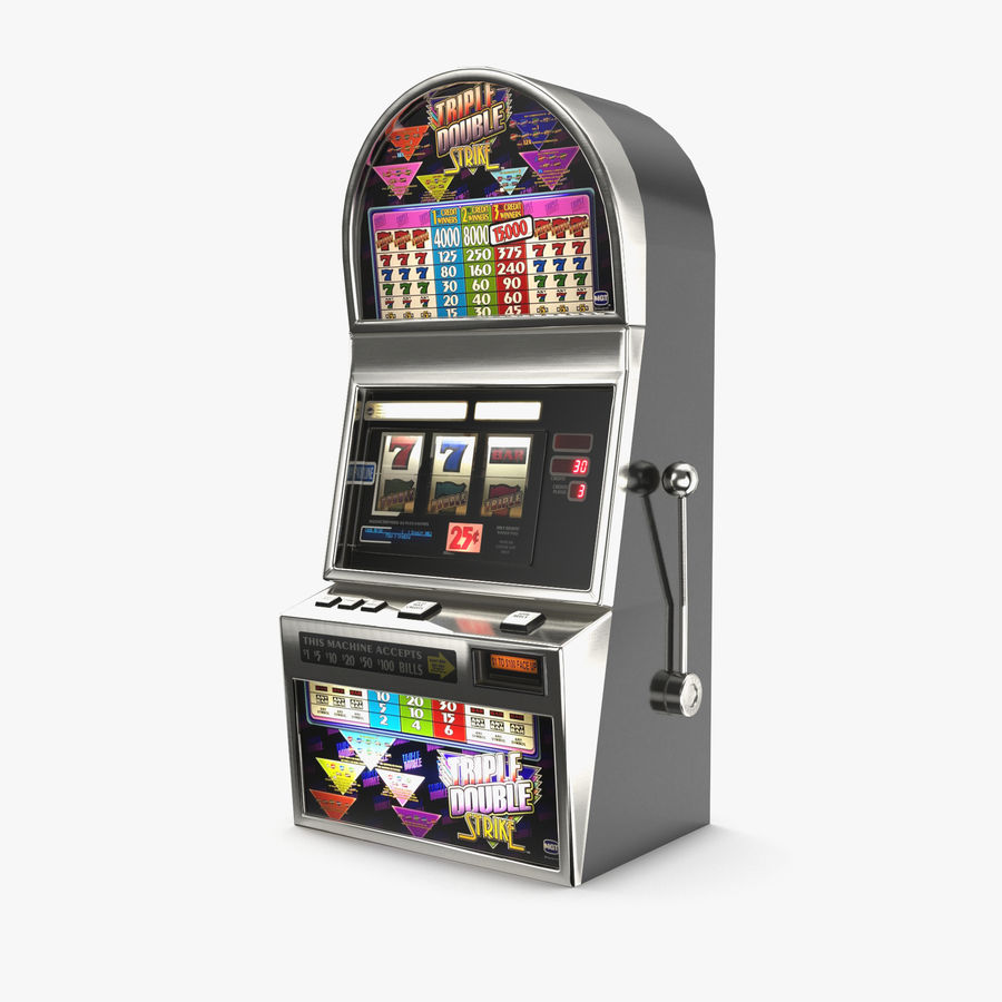 Slot Machine 01 royalty-free 3d model - Preview no. 1