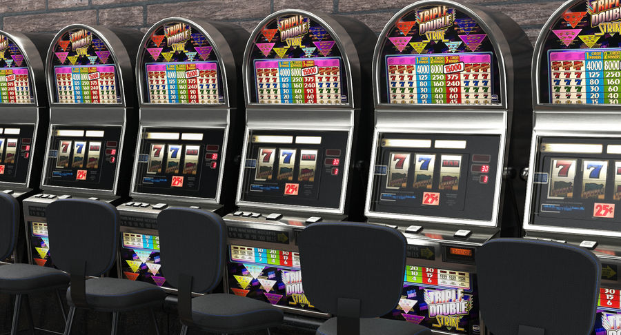 Slot Machine 01 royalty-free 3d model - Preview no. 3