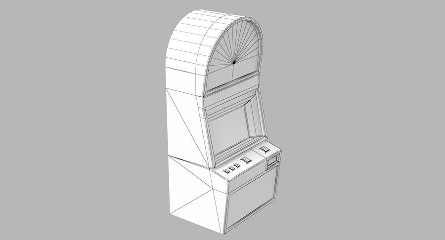 Slot Machine 01 royalty-free 3d model - Preview no. 15