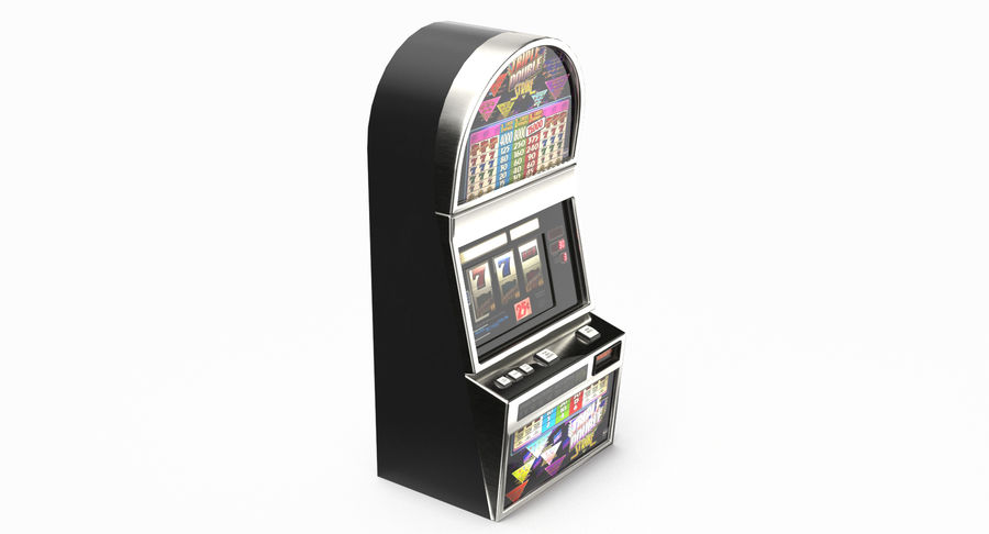 Slot Machine 01 royalty-free 3d model - Preview no. 5