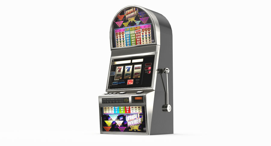 Slot Machine 01 royalty-free 3d model - Preview no. 10