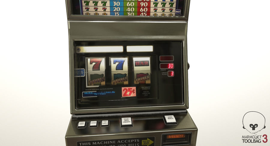 Slot Machine 01 royalty-free 3d model - Preview no. 13