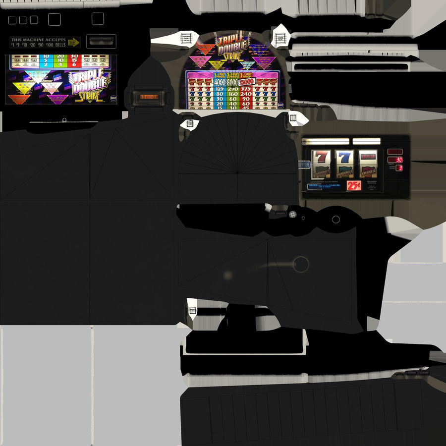 Slot Machine 01 royalty-free 3d model - Preview no. 17