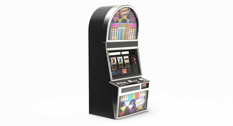 Slot Machine 01 royalty-free 3d model - Preview no. 9