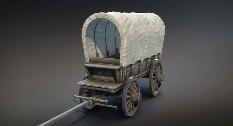 Medieval Wagon royalty-free 3d model - Preview no. 2