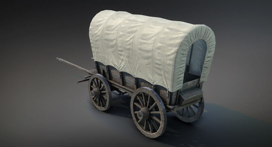Medieval Wagon royalty-free 3d model - Preview no. 5