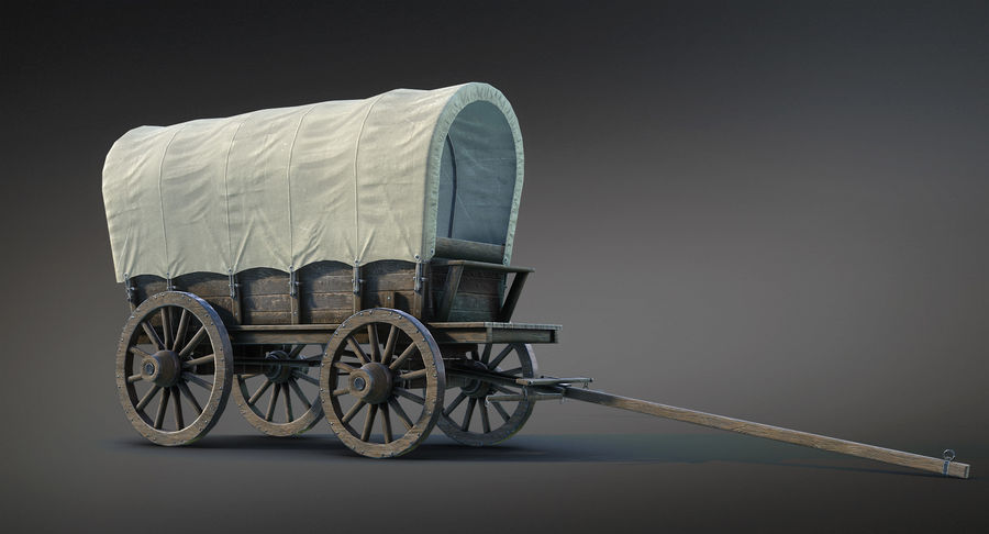 Medieval Wagon royalty-free 3d model - Preview no. 9