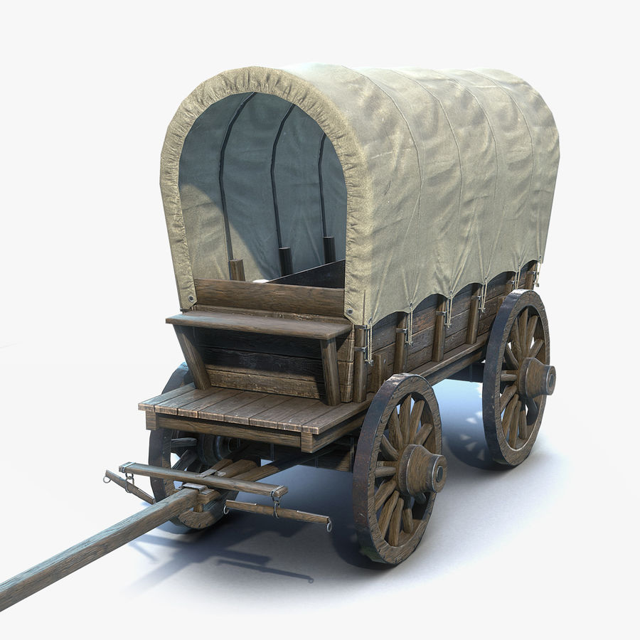Medieval Wagon royalty-free 3d model - Preview no. 1