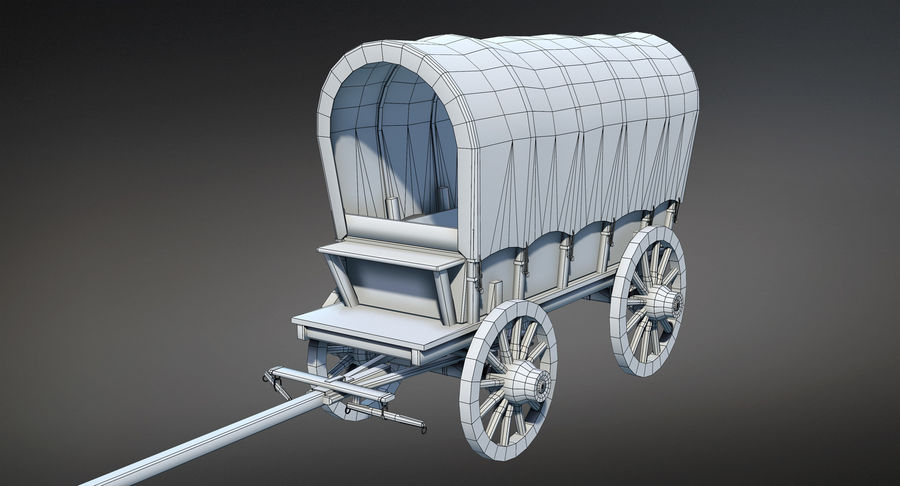 Medieval Wagon royalty-free 3d model - Preview no. 11