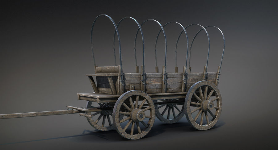 Medieval Wagon royalty-free 3d model - Preview no. 4