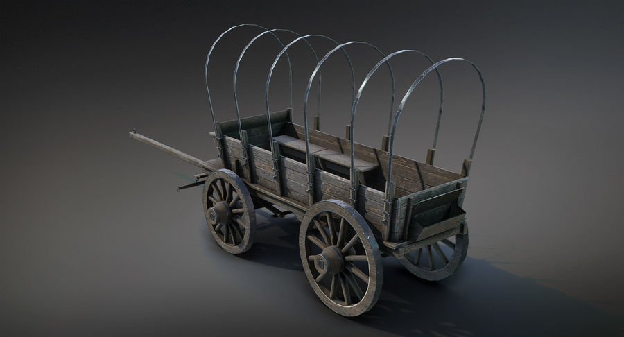 Medieval Wagon royalty-free 3d model - Preview no. 6