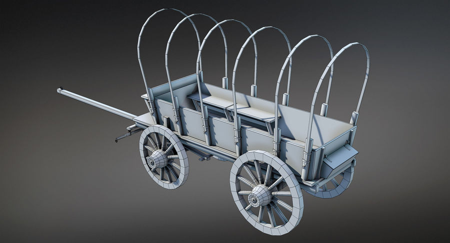 Medieval Wagon royalty-free 3d model - Preview no. 12