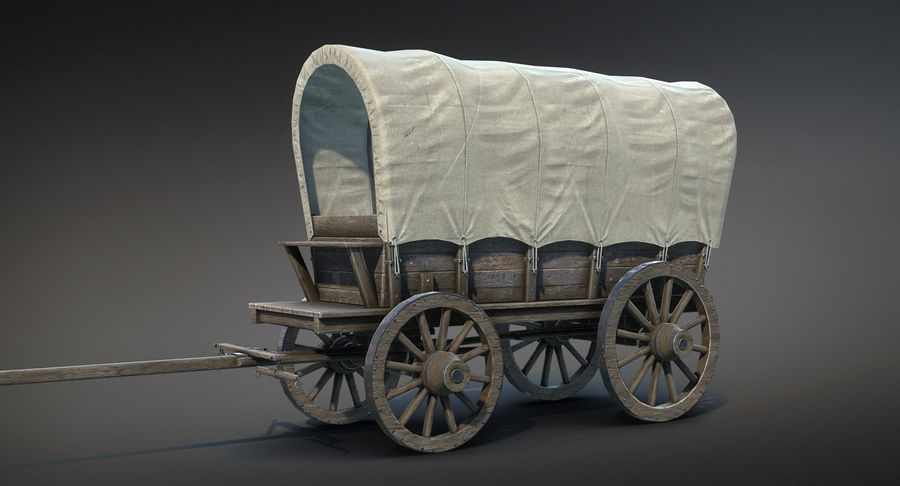 Medieval Wagon royalty-free 3d model - Preview no. 3