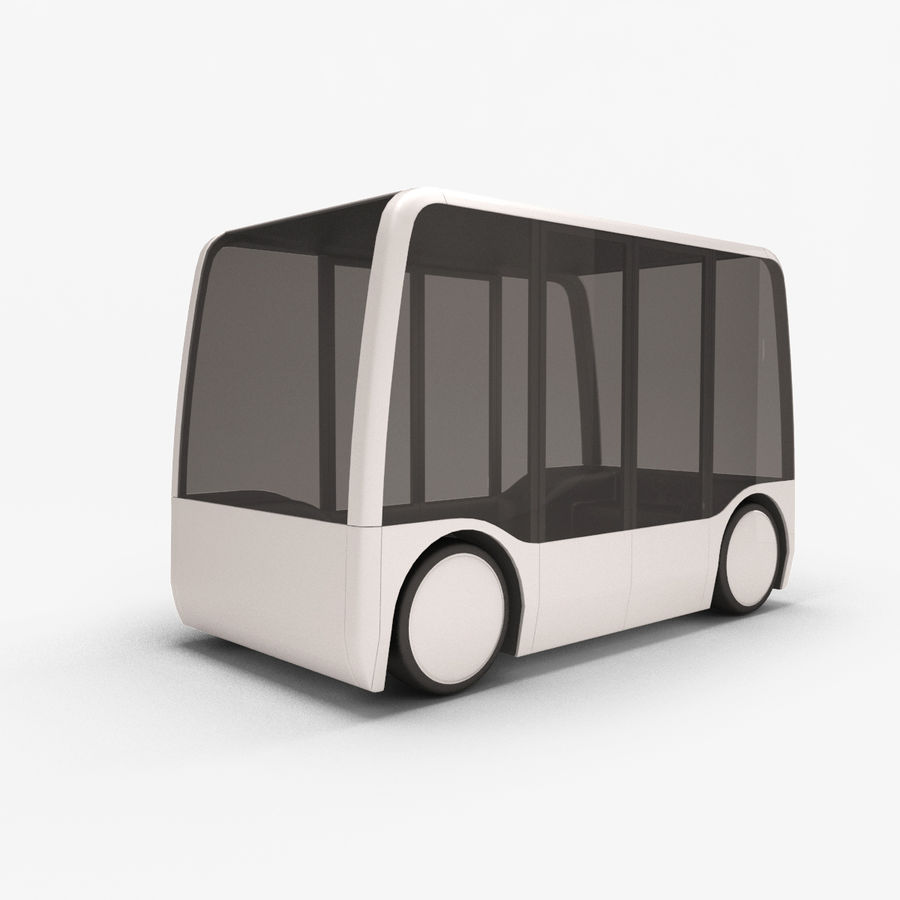 Concept City Bus royalty-free 3d model - Preview no. 1