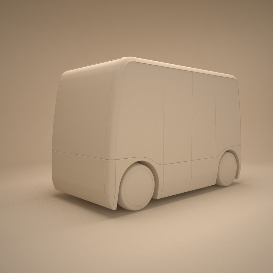 Concept City Bus royalty-free 3d model - Preview no. 6