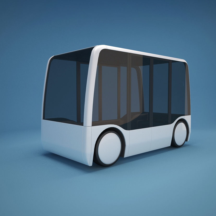 Concept City Bus royalty-free 3d model - Preview no. 2