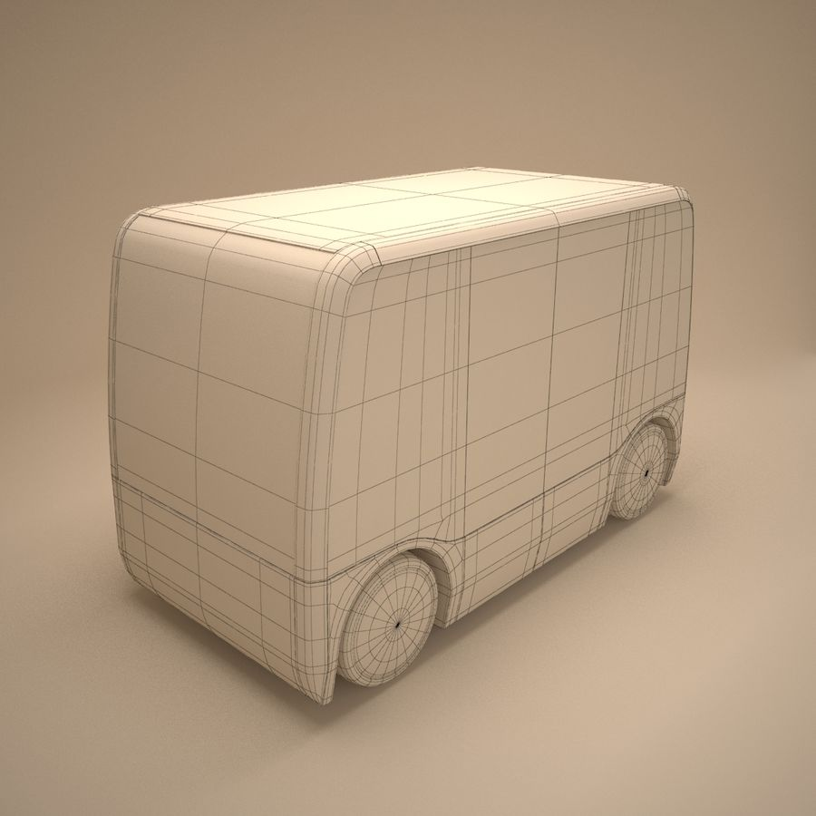 Concept City Bus royalty-free 3d model - Preview no. 10