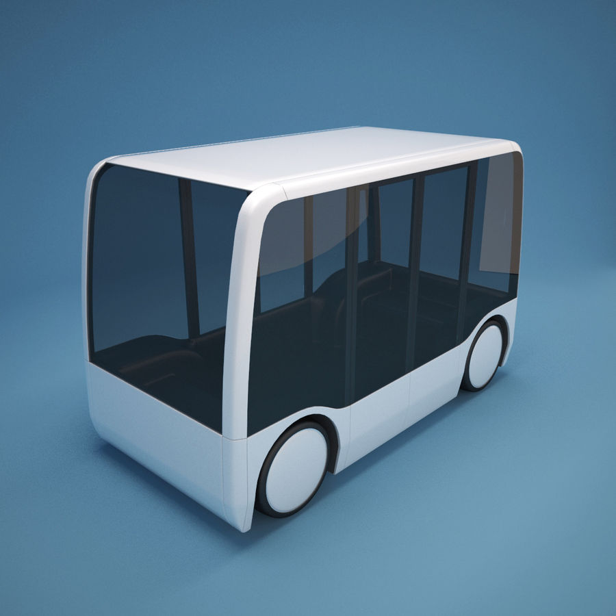 Concept City Bus royalty-free 3d model - Preview no. 4