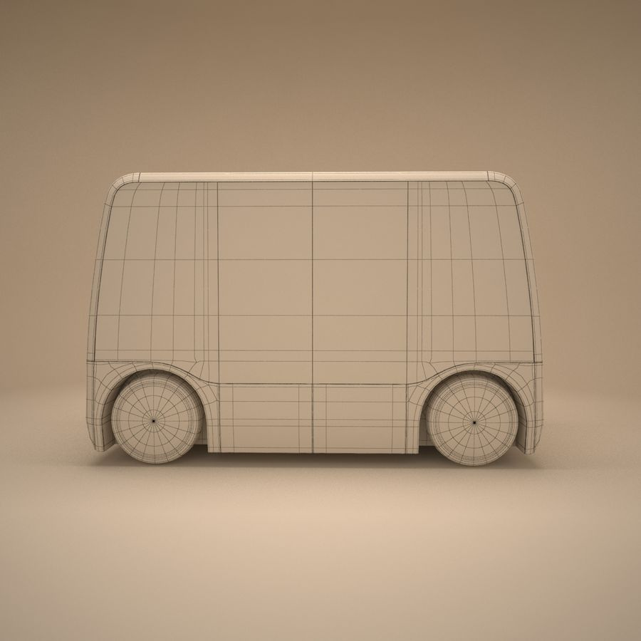 Concept City Bus royalty-free 3d model - Preview no. 11