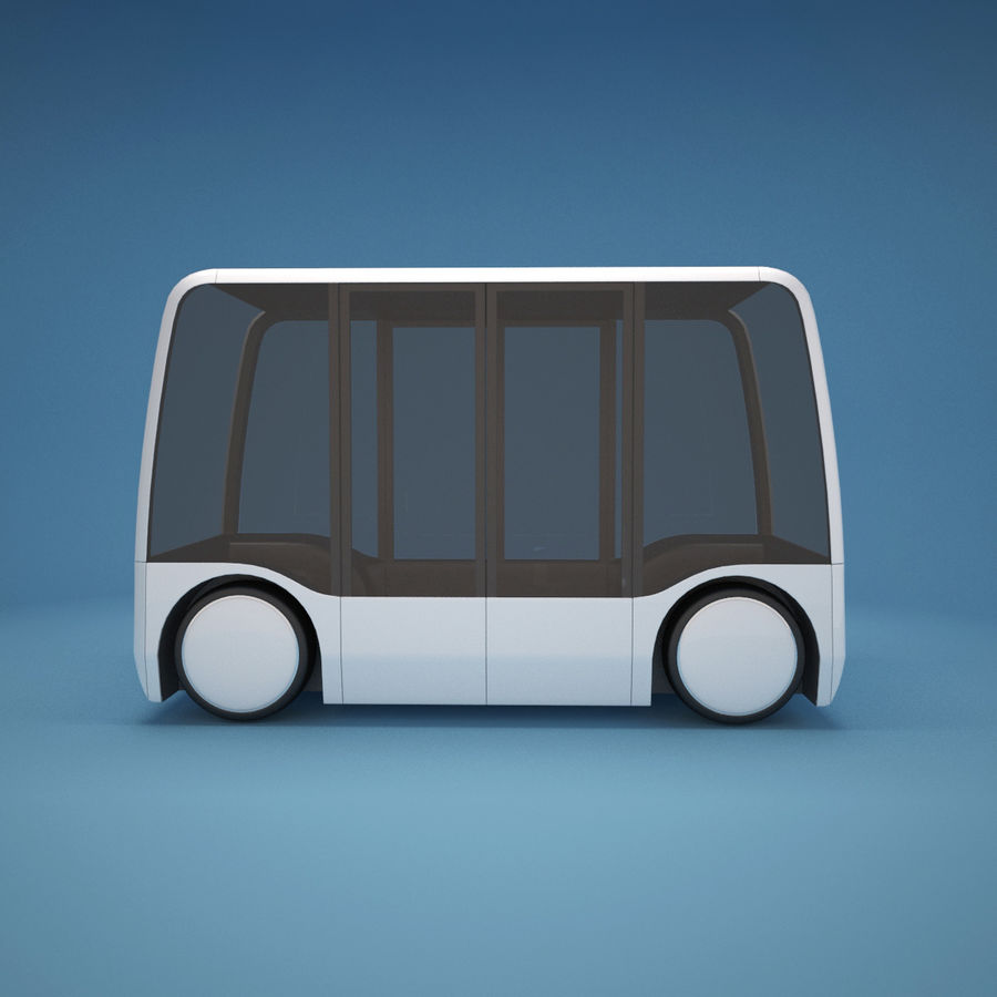 Concept City Bus royalty-free 3d model - Preview no. 3