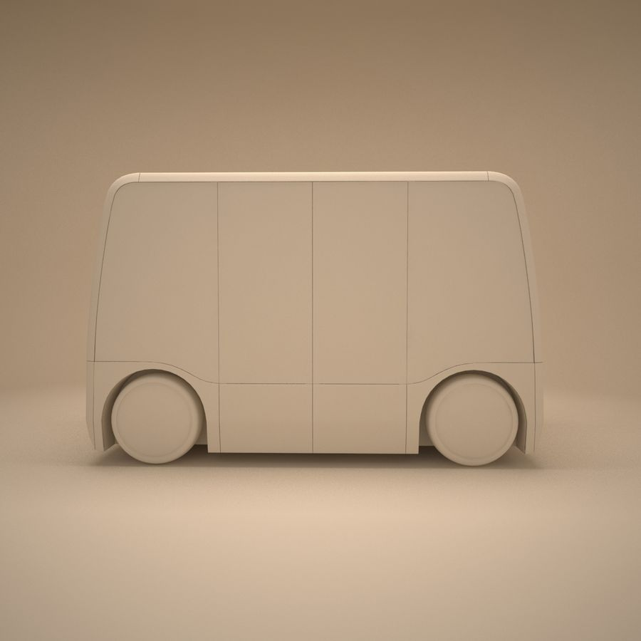 Concept City Bus royalty-free 3d model - Preview no. 8