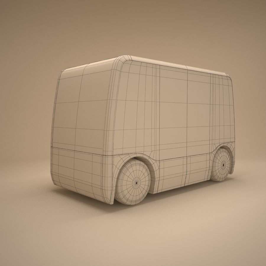 Concept City Bus royalty-free 3d model - Preview no. 9
