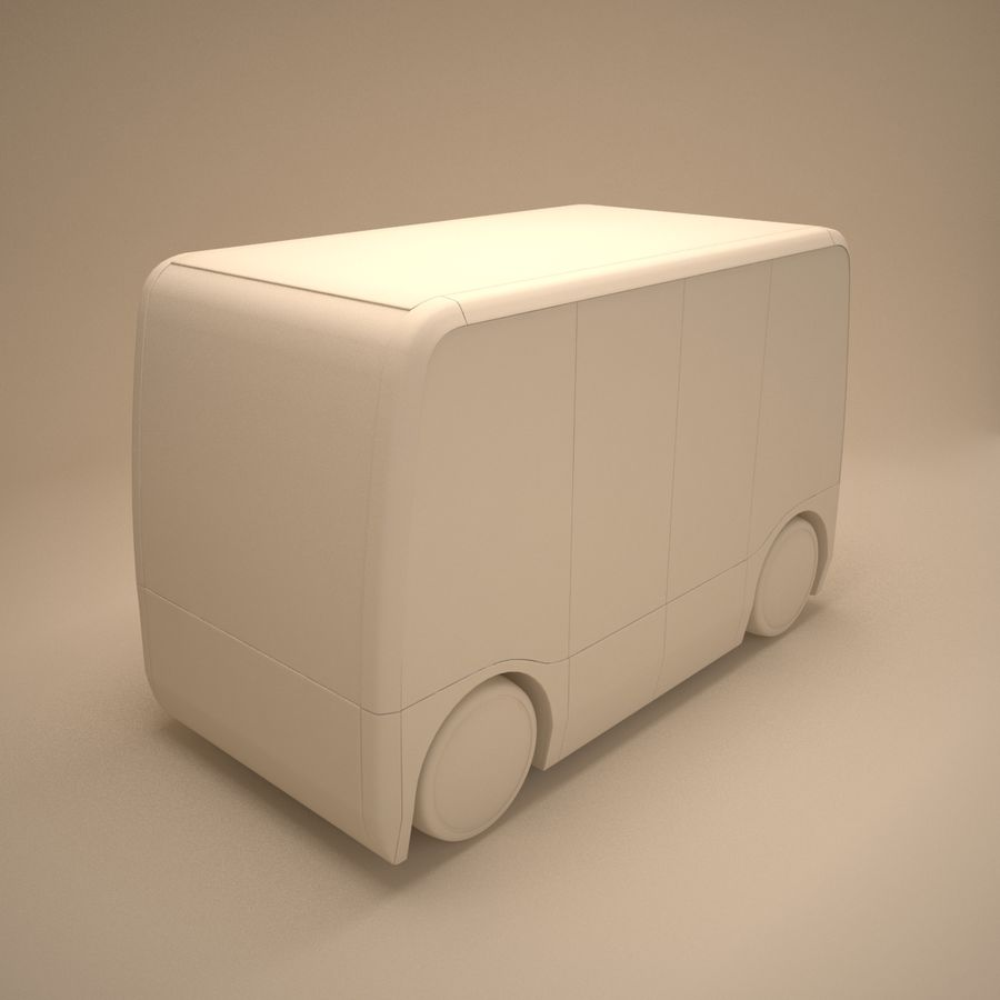 Concept City Bus royalty-free 3d model - Preview no. 7