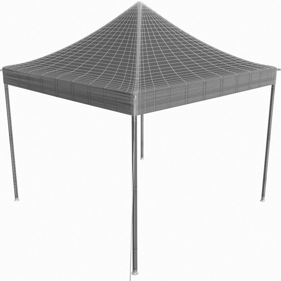 White Canopy Tent Gazebo royalty-free 3d model - Preview no. 10