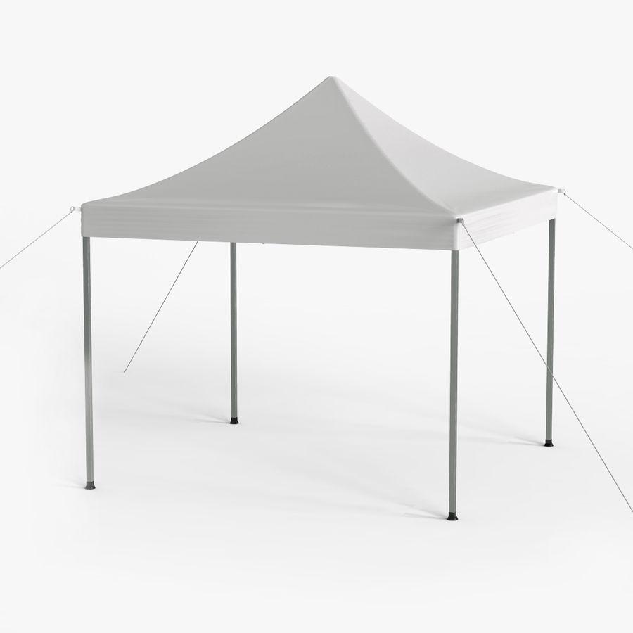 White Canopy Tent Gazebo royalty-free 3d model - Preview no. 1