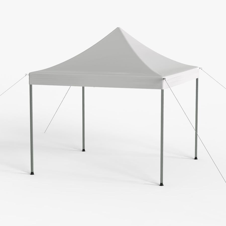 White Canopy Tent Gazebo royalty-free 3d model - Preview no. 8